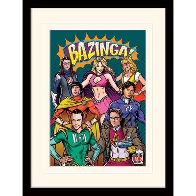 Art Group Superheroes - The Big Bang Theory Framed Vintage Advertisement
