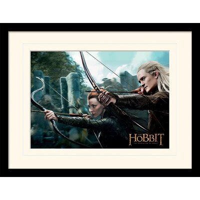 Art Group Tauriel and Legolas - The Hobbit DOS Framed Vintage Advertisement