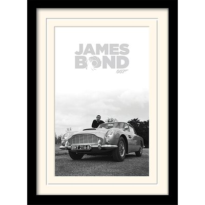 "Art Group James Bond ""Connery B+W"" Framed Graphic Art"