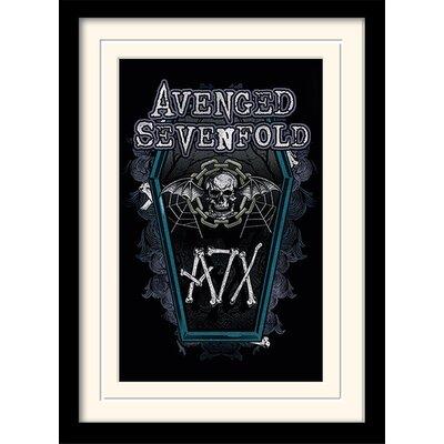 Art Group Chain Coffin Avenged Sevenfold Framed Vintage Advertisement