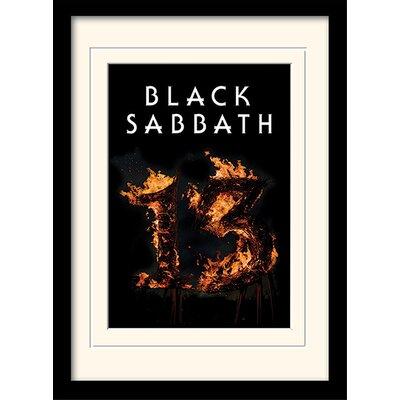 Art Group Black Sabbath 13 Framed Vintage Advertisement