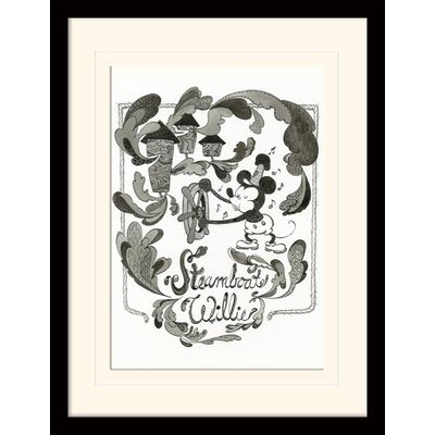 Art Group Mickey Mouse Steamboat Willie - Steam Mounted Framed Vintage Advertisement