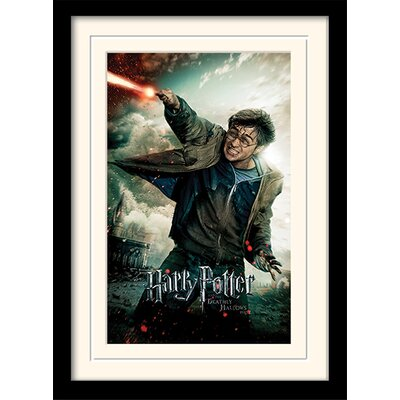 Art Group Harry Potter Deathly Hallows Part 2 - Wand Framed Vintage Advertisement