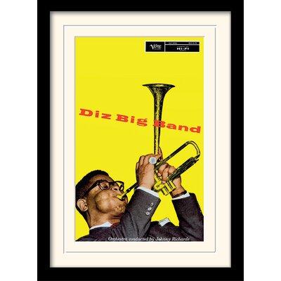 Art Group Dizzie Gillespie Big Band Framed Vintage Advertisement