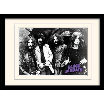 Art Group Photo Black Sabbath Framed Vintage Advertisement