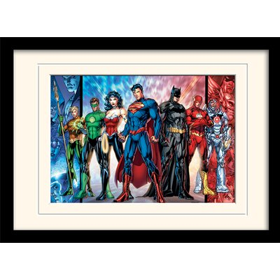 Art Group DC Comics Justice League United Framed Graphic Art