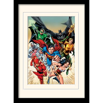Art Group DC Comics Justice League Heroic Framed Graphic Art
