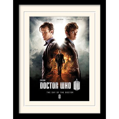 Art Group Doctor Who Day of the Doctor Framed Vintage Advertisement