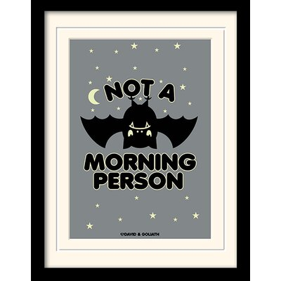 Art Group Davis and Goliath Not a Morning Person Framed Typography