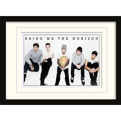 Art Group Bring Me The Horizon Group Framed Photographic Print