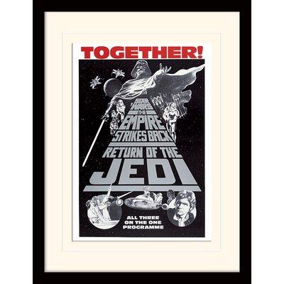 Art Group Star Wars Trilogy Together Framed Vintage Advertisement