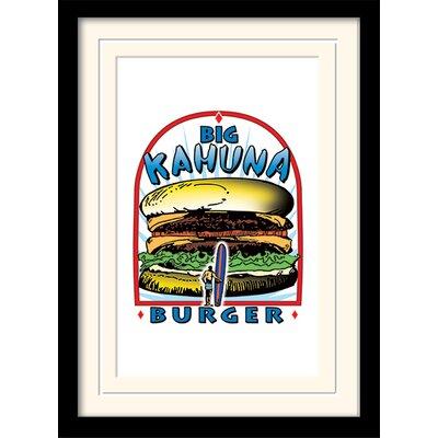 Art Group Pulp Fiction Big Kahuna Burger Framed Vintage Advertisement
