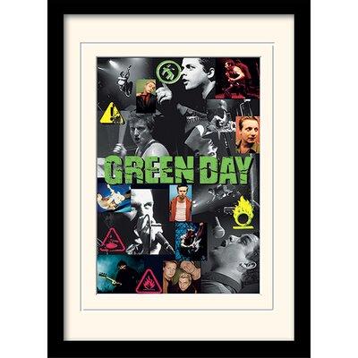 Art Group Green Day Collage Framed Vintage Advertisement