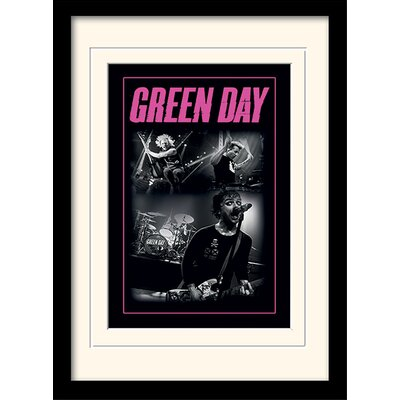 Art Group Green Day Photo Framed Vintage Advertisement