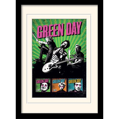 Art Group Green Day Uno! Dos! Tre! Framed Vintage Advertisement