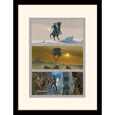 Art Group Star Wars Rebel Base on Hoth Framed Vintage Advertisement