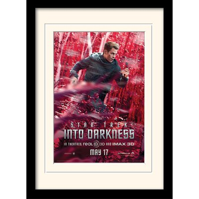 Art Group Into Darkness - Kirk Banner by Star Trek Mounted Framed Vintage Advertisement