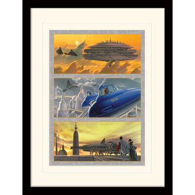 Art Group Star Wars Arrival at Cloud City Framed Vintage Advertisement