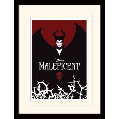 Art Group Maleficent Wings Mounted Framed Vintage Advertisement