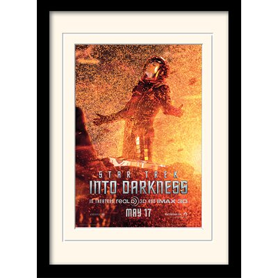 Art Group Into Darkness - Spock Banner by Star Trek Mounted Framed Vintage Advertisement
