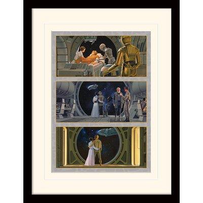 Art Group Star Wars The Falcon Departs Framed Vintage Advertisement