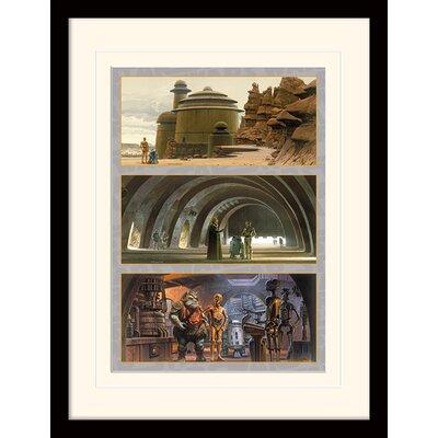 Art Group Star Wars Arrival at Jabba's Palace Framed Vintage Advertisement