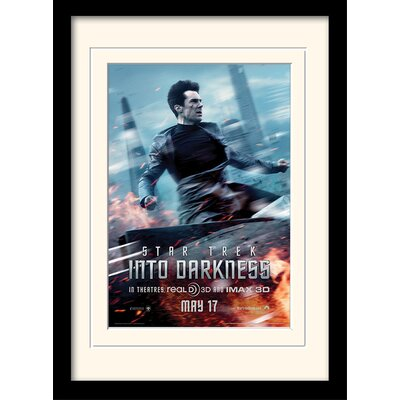 Art Group Into Darkness - Harrison Banner by Star Trek Mounted Framed Vintage Advertisement