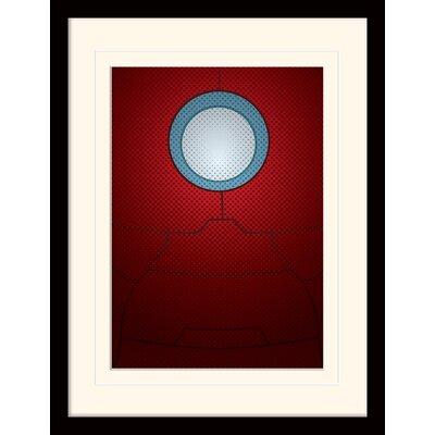 Art Group Iron Man Torso Avengers Assemble Mounted Framed Graphic Art