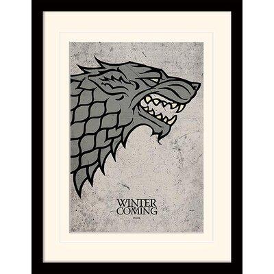 Art Group Game of Thrones Stark Framed Graphic Art