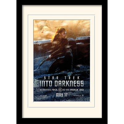 Art Group Into Darkness - Uhura Banner by Star Trek Mounted Framed Vintage Advertisement