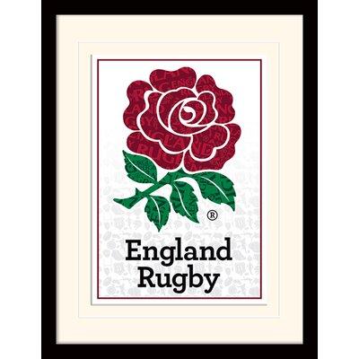 Art Group England Rugby Logo Framed Graphic Art