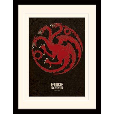 Art Group Game of Thrones Targaryen Framed Graphic Art