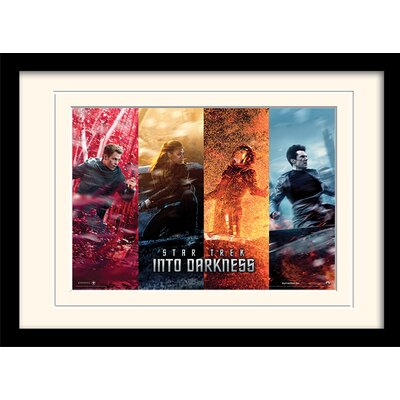 Art Group Into Darkness - Banner Collection by Star Trek Mounted Framed Vintage Advertisement