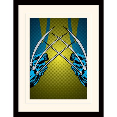 Art Group Marvel Comics Wolverine Claws Mounted Framed Vintage Advertisement