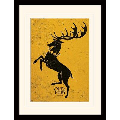 Art Group Game of Thrones Baratheon Framed Graphic Art