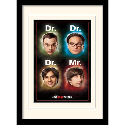 Art Group Dr/Mr The Big Bang Theory Framed Vintage Advertisement