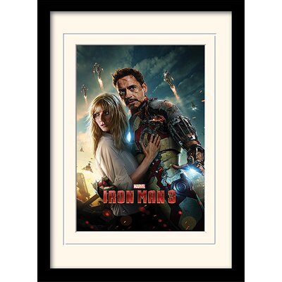 "Art Group Iron Man 3 ""Couple"" Framed Vintage Advertisement"