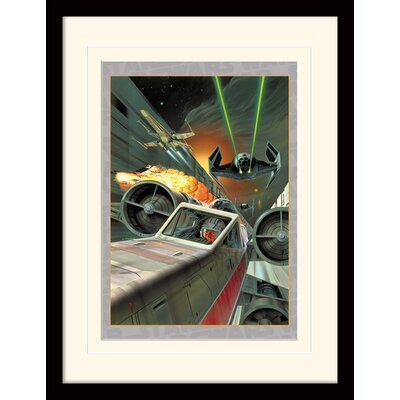 Art Group Star Wars Death Star Assault Framed Vintage Advertisement