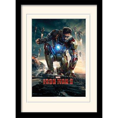 "Art Group Iron Man 3 ""Crouching"" Framed Vintage Advertisement"