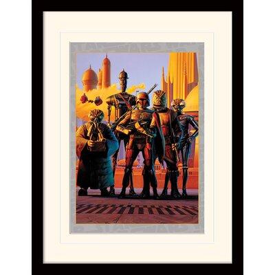Art Group Star Wars Bounty Hunters Framed Vintage Advertisement