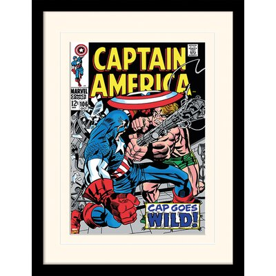 Art Group Captain America CAP Goes Wild Framed Vintage Advertisement