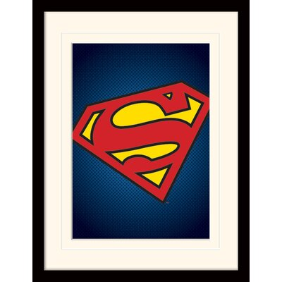 Art Group DC Comics Superman Symbol Framed Graphic Art