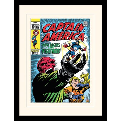 Art Group Captain America Now Begins The Nightmare Framed Vintage Advertisement