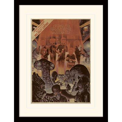 Art Group Star Wars Mos Eisley Cantina Aged Framed Vintage Advertisement