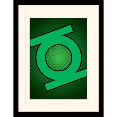 Art Group DC Comics Lantern Symbol Framed Graphic Art