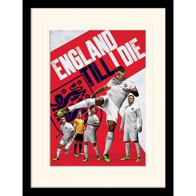 Art Group England Till I Die Framed Graphic Art
