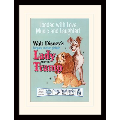 Art Group Lady and the Tramp Love Music and Laughter Framed Graphic Art
