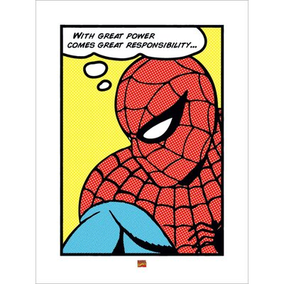 Art Group Spider-Man Pop Graphic Art