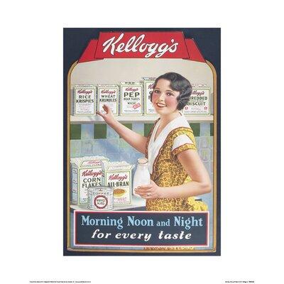 Art Group Vintage Kelloggs - Morning Noon and Night Vintage Advertisement