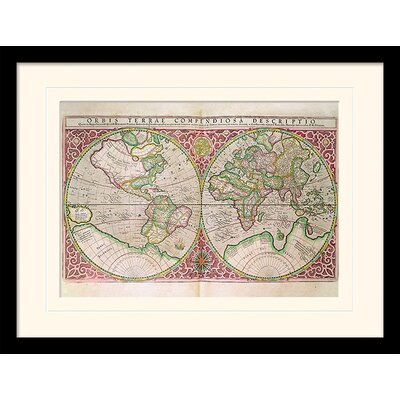 Art Group Oribis Terrae 1587 Framed Graphic Art